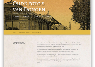 Oude foto's van Dongen